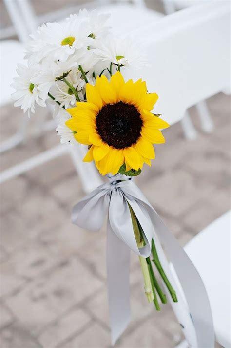 wedding aisle  sunflowers simple sunflower daisy