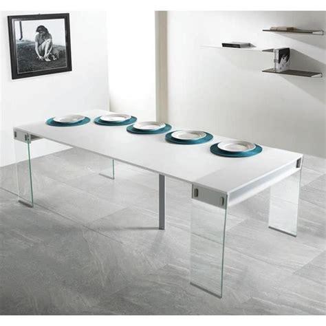 console cuisine pas cher table console extensible town blanc 4 allonges achat