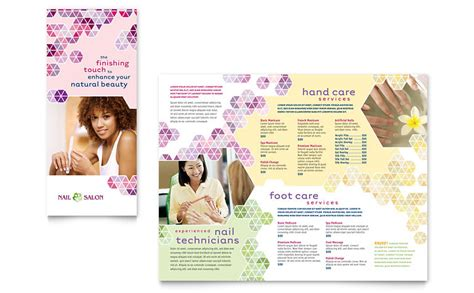 Salon Brochure Templates Free by Nail Salon Brochure Template Word Publisher