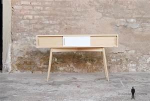 Meuble Vide Poche : console meuble entree fabrication france style scandinave ~ Teatrodelosmanantiales.com Idées de Décoration