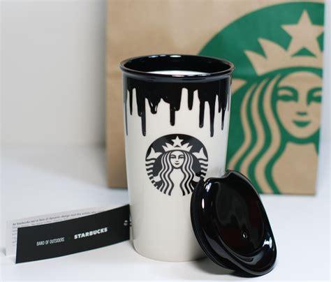 Starbucks coffee 2009 espresso demitasse mug cup red snowflakes set of 2 3oz #starbuckscoffee. Starbucks Limited Edition Band of Outsiders Mug - Black Drip Coffee Tumbler 12oz | eBay