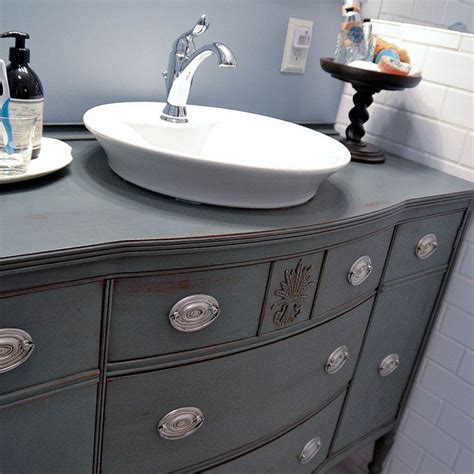 Repurposing Our Dining Room Buffet Into A Bathroom Vanity