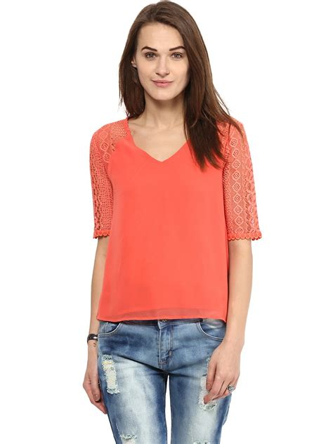coral blouses and tops harpa coral top gr2942 coral cilory com