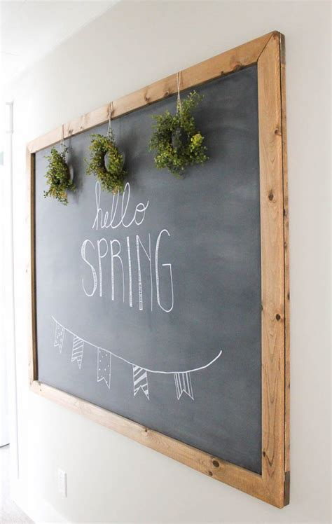 diy chalkboard how to make your own large hanging chalkboard