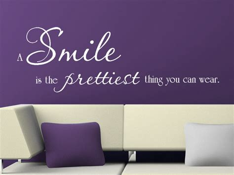badezimmer auf englisch wandtattoo a smile is the prettiest thing you can wear wandspruch