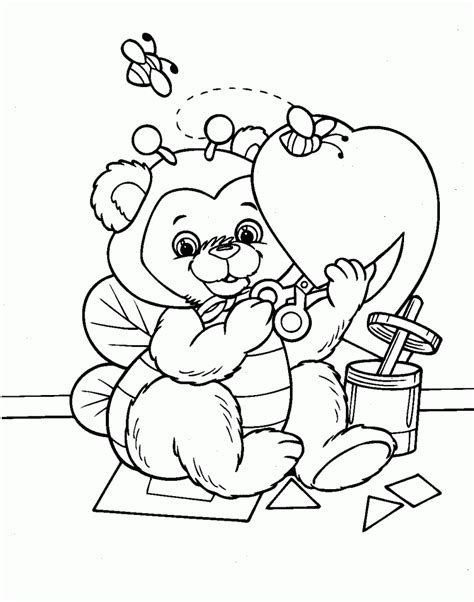 printable valentine coloring pages  kids