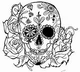 Skull Tattoo Candy Coloring Skulls Pages Sugar Deviantart Allien Green Adult Colouring Flash Tattoos Adults Mexican Designs Books Halloween Muertos sketch template