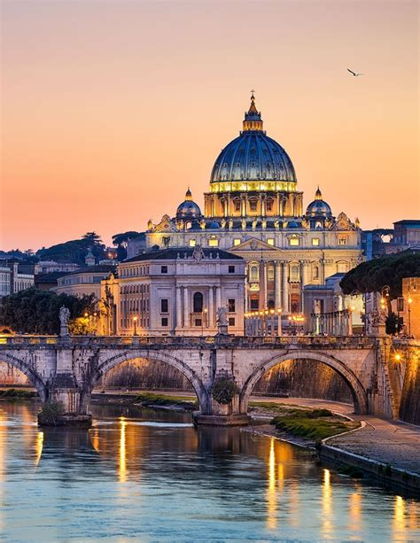 vatican city in rome italy by night photo travel