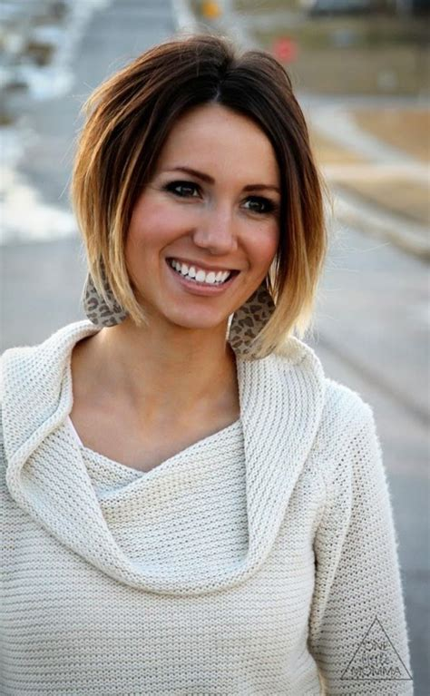 The process wasn't too hard! Cute Short Dark Brown to Blonde Ombre Hair - Hairstyles Weekly