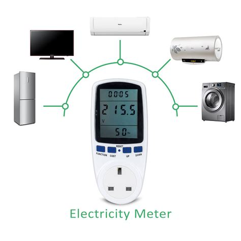 plug in electricity power consumption meter energy monitor