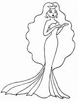 Coloring Pages Princess Princesses Royalty sketch template