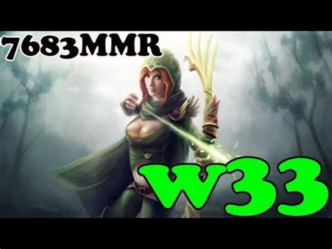 dota 2 w33 7683 mmr plays windrunner vol 1 ranked