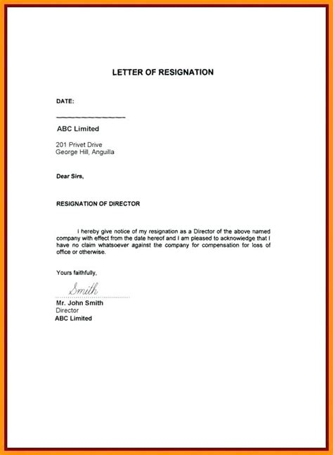 leave letter sample   sample letter green brier