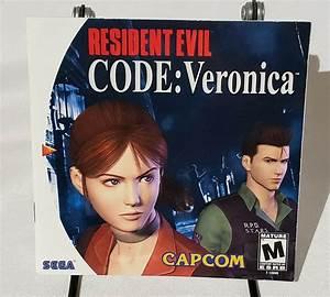 Resident Evil Code Veronica Instructions Manual Only Sega