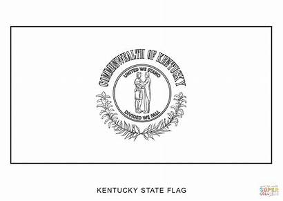 Kentucky Flag Coloring Pages State Symbols Printable