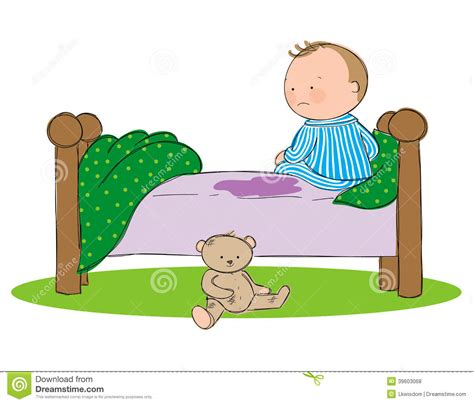 the bed comic the bed stock vector image 39603068