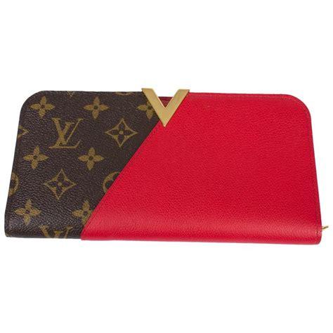 louis vuitton kimono wallet brownred  stdibs