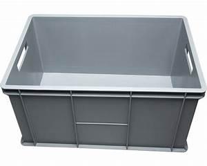 Aufbewahrungsboxen Kunststoff Mit Deckel : stapelbox 64 l 600x320x400 mm grau bei hornbach kaufen ~ Markanthonyermac.com Haus und Dekorationen