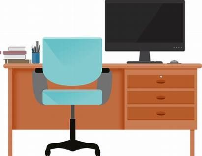 Desk Computer Transparent Table Clipart Desktop Pixabay