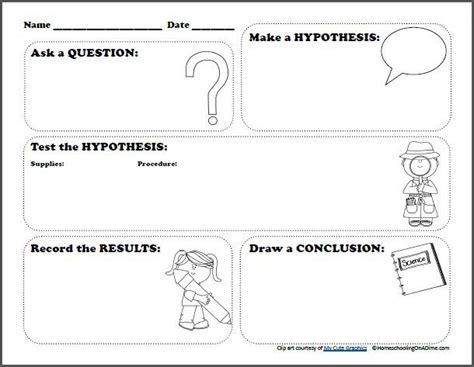 Free Scientific Method Printable Worksheet  Free Homeschool Deals