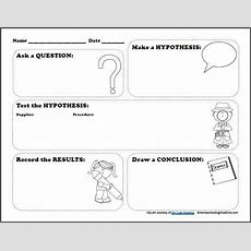 Free Scientific Method Printable Worksheet  Free Homeschool Deals