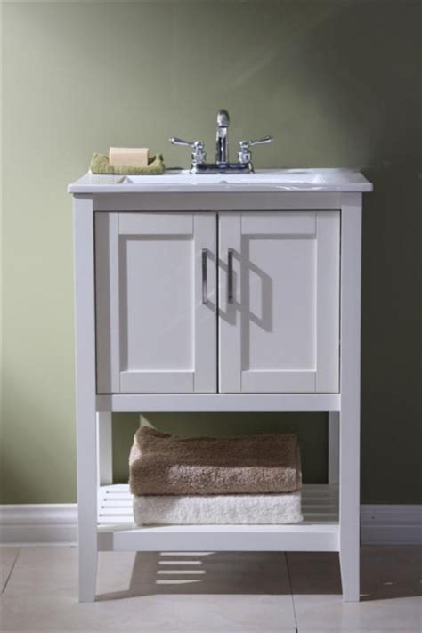 Vanity 24 Inch by 24 Inch Single Sink Bathroom Vanity In White Uvlfwlf6020w24