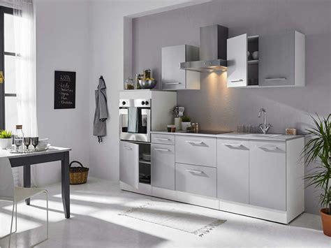 greta cuisine bloc cuisine 240 cm greta 3 blanc gris vente de les