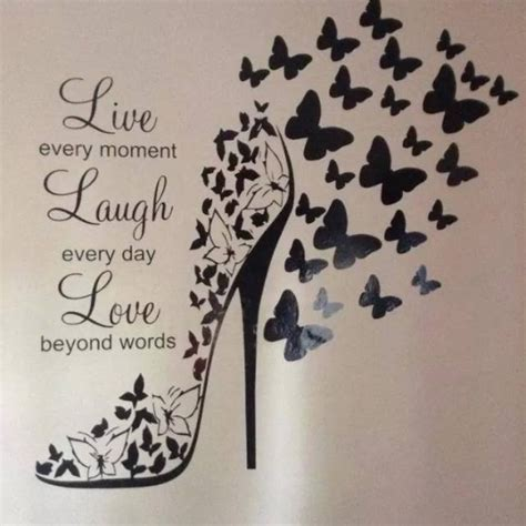 Butterfly Shoe With   Live Love Laugh & 2 Sheets of