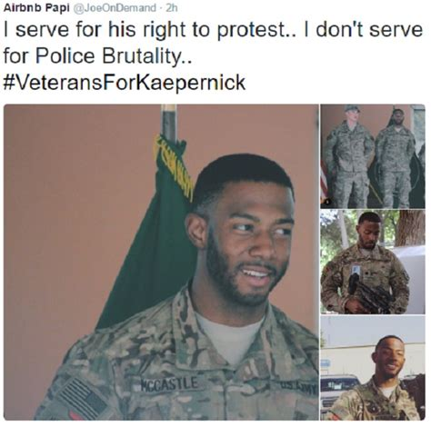 veterans  kaepernick hashtag blows   qb receives support larry brown sports