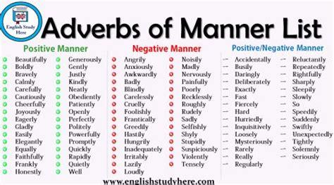 An adverb is a part of speech that can modify a verb, an adjective, or another adverb. Adverbs of Manner List   Escribir palabras, Estudiar inglés, Palabras inglesas