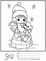 Coloring Pages Winter Precious Moments Igloo Printable Visit Ginormasource sketch template