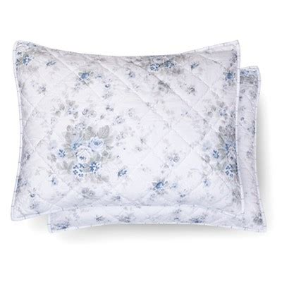 target shabby chic pillow cases blue white shadow rose pillow sham simply shabby chic target