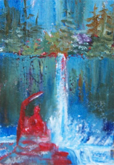 buddha aceo painting oil falls advertisements