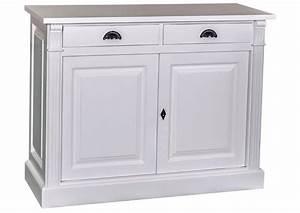 Bahut 2 Portes : acheter votre bahut 2 portes 2 tiroirs en pin massif blanc chez simeuble ~ Teatrodelosmanantiales.com Idées de Décoration