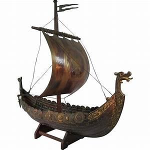 Norse/Viking Sailing Ship Sculpture SOLD on Ruby Lane