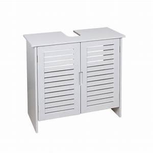 Meuble Sous Vasque 80 Cm : linda meuble sous lavabo 60 cm blanc achat vente ~ Nature-et-papiers.com Idées de Décoration