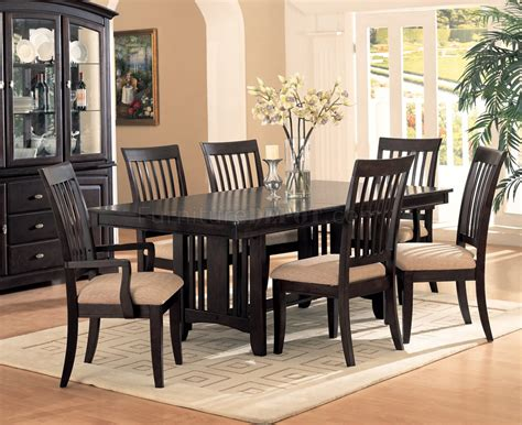cappuccino finish classic dining room furniture