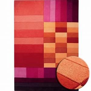 tapis various box rouge par esprit home With tapis salon 200x200