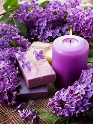 Candle Lavender Flowers