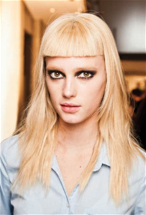 Women Long Hairstyle With Statement Making Bangs With