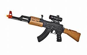 Kids Army AK-47 Toy Assault Rifle w/ Scope - Kids-Army com