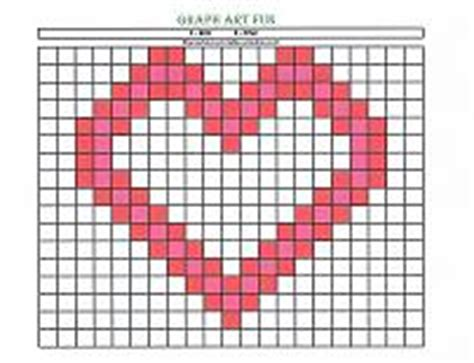 Preschool Graph Art Heart For Valentine's Day! Colorbynumber Activity Helps Teach Number