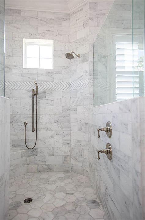 Bathroom Floor And Wall Tiles Ideas by Shower Tile Ideas Shower Wall With Marble Tile And Shower