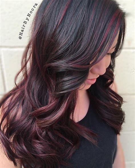 hairstyles featuring dark brown hair  highlights