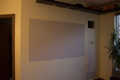 diy projector screen goo paint vs behr
