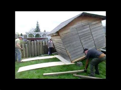 how to move a shed saw shed move