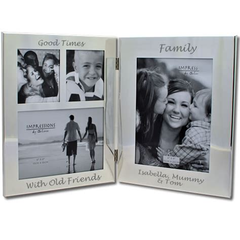 personalised silver family photo frame  day delivery