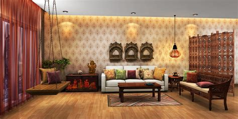 Indian Ethnic Living Room Designs Online