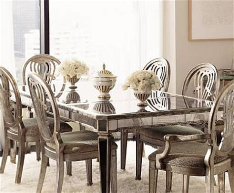mirrored dining table set mirrored furniture spacious interior design