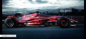 Alfa Romeo F1 : alfa romeo aw30 f1 rendering looks future proof carscoops ~ Medecine-chirurgie-esthetiques.com Avis de Voitures